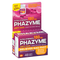 Phazyme Ultra Strength Softgel 180 mg 48 ea [301320005080]