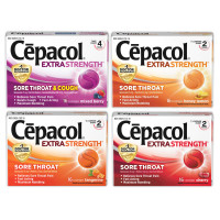 Cepacol Extra Strength Lozenges, Mixed Berry, Cherry, Honey Lemon, Tangerine (4 Packs, 16 each per Pack) 1 ea [191567916566]