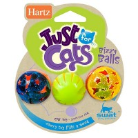 Hartz Just For Cats Bizzy Balls Cat Toys 3 ea [032700821838]
