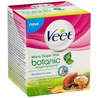 VEET Botanic Inspirations Warm Sugar Wax Kit, Sensitive Formula 1 ea [062200908500]