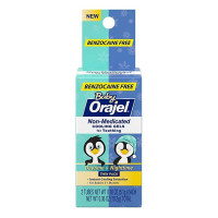 Baby Orajel, Non-Medicated Cooling Gels For Teething Daytime & Nighttime 0.18 oz [310310430153]