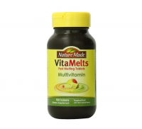 Nature Made VitaMelts Hair, Skin & Nails, Tablets, Strawberry Lemonade 100 ea [031604041069]