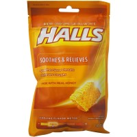 Halls Honey Naturally & Artificially Flavored Menthol Drops 30 ea [312546001879]