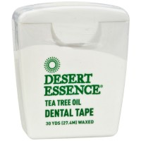 Desert Essence Tea Tree Oil Waxed Dental Floss Tape, 30 Yds 1 ea [718334220628]