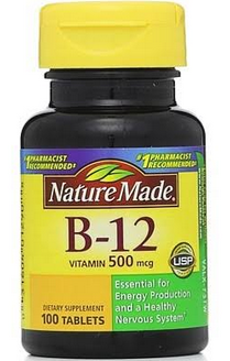 Nature Made Vitamin B-12 500 mcg Tablets 100 ea [031604012908]