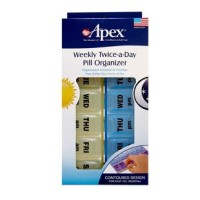 Apex Twice-A-Day Weekly Pill Organizer 1 ea [076855700594]