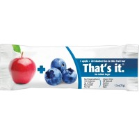 That's It Fruit Bar, 1.2 oz bars, Apple & Blueberry 12 bars [850397004132]