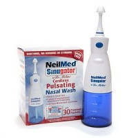 NeilMed Sinugator Cordless Pulsating Nasal Wash with 30 Premixed Packets 1 kit [705928888012]
