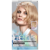 L'Oreal Feria Permanent Haircolor, 91 Light Beige Blonde (Cooler) 1 ea [071249230206]