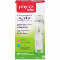 Playtex Baby Drop-Ins Pre-Sterilized Disposable Liners, 8-10 oz, 50 ea [078300054764]