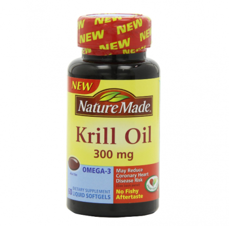 Nature Made Krill Oil 300 mg Liquid Softgels 60 Soft Gels [031604027384]