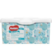 HUGGIES One & Done Refreshing Baby Wipes, Cucumber & Green Tea 64 ea [036000167900]