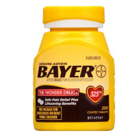 Bayer  325mg Aspirin 200 tabs [312843536364]