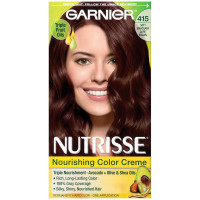 Garnier Nutrisse Haircolor - 415 Soft Mahogany Dark Brown 1 ea [603084055920]