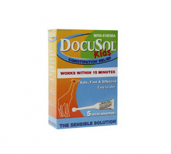 Docusol Kids Constipation Relief Mini Enema 5 Ea