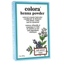 Colora Henna Powder Hair Color, Red Sunset 2 oz [028863000098]