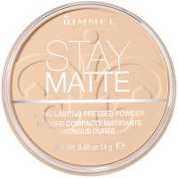 Rimmel London Stay Matte Long Lasting Pressed Powder, Transparent [001] 0.49 oz [5012874022267]