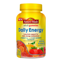 Nature Made Daily Energy Gummies, Berry Burst & Orange Zing, 70 ea  [031604030407]