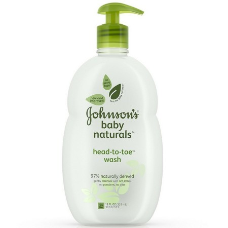 JOHNSON'S Natural Head-to-Toe Foaming Baby Wash Allerfree Fragrance 18 oz [381371028023]