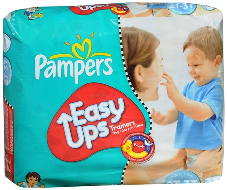 Pampers Easy Ups Training Pants Boys 26 Each [037000265849]