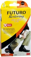 FUTURO Restoring Dress Socks For Men Firm Large Black 1 Pair [382250056151]