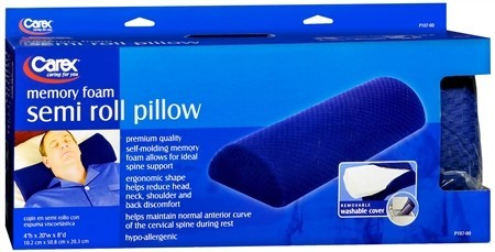 Carex Memory Foam Semi Roll Pillow 1 Each [023601031075]