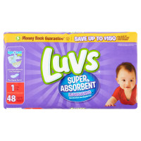Luvs Ultra Leakguards Diapers, Size 1 48 ea [037000859222]