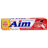Aim Multi-Benefit Cavity Protection Cinna Mint Gel Toothpaste 5.5 oz [033200000655]