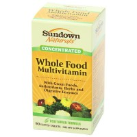 Sundown Naturals Whole Food Concentrate Multivitamin Coated Tablets 90 ea [030768500917]