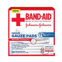 JOHNSON & JOHNSON Band-Aid First Aid Gauze Pads 3 Inches X 3 Inches 10 Each [381371161256]