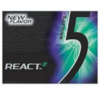 Wrigley's 5 Sugar Free Gum React Mint 10 pack (15 ct per pack)   [022000117038]