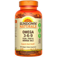 Sundown Naturals Triple Omega 3-6-9 Softgels 200 ea [030768644277]