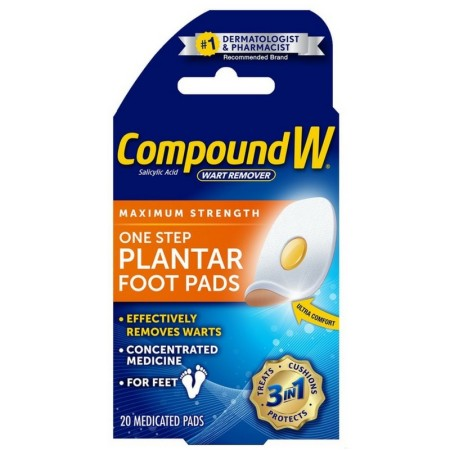 Compound W  Maximum Stregth One Step Plantar Foot Pads 20 ea [375137595508]