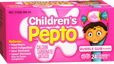 Children's Pepto Chewable Tablets Bubble Gum 24 Each [301490039663]