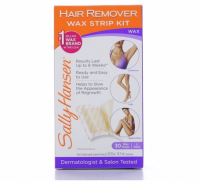 Sally Hansen Hair Remover Wax Strips for Body, Legs, Arms & Bikini, 30 ea [074170048681]