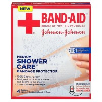 BAND-AID Shower Care Bandage Protector, Medium 4 ea [381371164134]