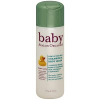 Avalon Organics Baby Gentle Tear-Free Shampoo & Body Wash, Baby Safe 8 oz [654749371008]