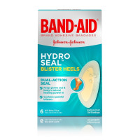 JOHNSON'S Band-Aid Brand Hydro Seal Adhesive Bandages for Heel Blisters, 6 ea [381371174195]