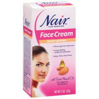 Nair Hair Remover Moisturizing Face Cream with Sweet Almond Oil 2 oz [022600210313]
