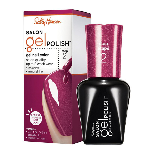 Sally Hansen Salon Pro Gel Nail Polish: Sally Hansen Salon Pro Gel Nail Polish, Wine Not 0.14 Oz