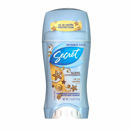 Secret Scent Expressions Anti-Perspirant Deodorant Invisible Solid, Va Va Vanilla 2.60 oz [037000204442]