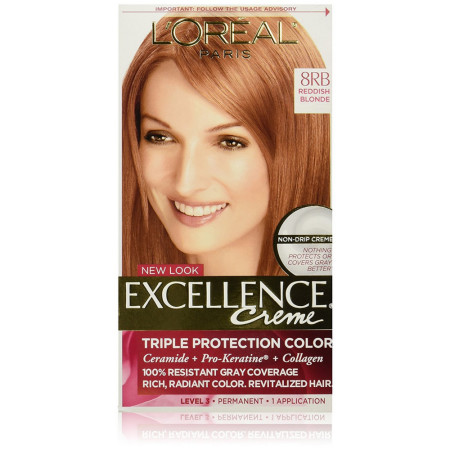 L'Oreal Paris Excellence Créme Permanent Hair Color, 8RB Medium Reddish Blonde 1 ea [071249210734]