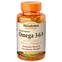 Sundown Naturals Vegetarian Omega 3-6-9 Softgels 50 ea [030768536343]