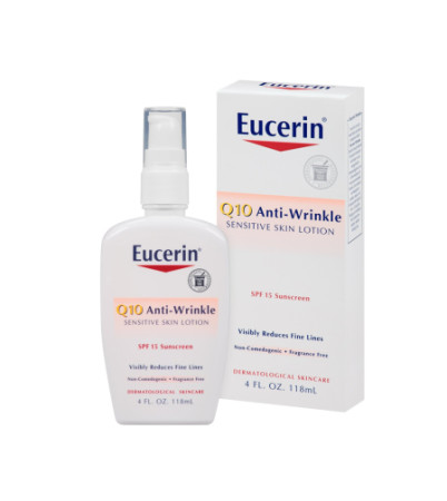 Eucerin Q10 Anti-Wrinkle Sensitive Skin Lotion SPF 15 4 oz [072140634216]
