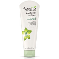 Aveeno Active Naturals Positively Radiant 60 Second In-Shower Facial Cleanser 5 oz [381371166268]
