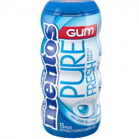Mentos Pure Fresh Gum Bottle Fresh Mint 10 pack (15 ct per pack)  [073390011789]