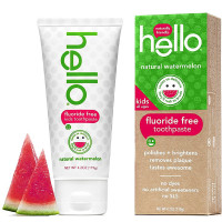 Hello Kids Fluoride Free Toothpaste, Natural Watermelon 4.20 oz [854296004675]
