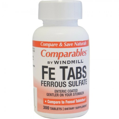 Comparables By Windmill Fe Tabs Ferrous Sulfate Tablets 300 Tablets [035046000790]