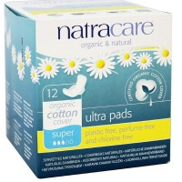 Natracare Organic Cotton Natural Ultra Pads Super with Wings 12 ea  [782126003089]
