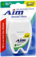 Aim Dental Floss Mint Wax Nylon 120 Yards [672935781066]